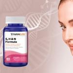 Fortalece cabello y uñas juntos a S, H & N formula de VITAMINLIFE